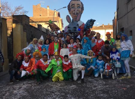 Pinocchio al Carnevale di Castel Sant'Elia.